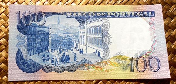 Portugal 100 escudos 1965 reverso