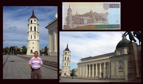 50 litus Lituania desde la Torre de la Catedral de Vilnius