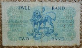 Sudáfrica 2 rand 1962-65 pk.105b reverso