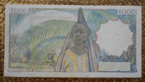 French West Africa 1000 francos 1948 pk.42 reverso
