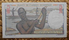 French West Africa 5 francos 1953 pk.36 reverso
