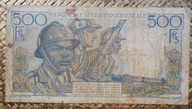 French West Africa 500 francos 1951 pk.41 reverso