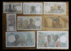 French West Africa Serie francos 1943-1954 anversos