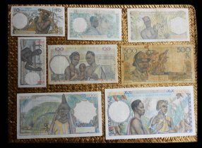 French West Africa Serie francos 1943-1954 reversos