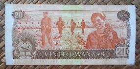 Angola 20 kwanzas 1976 pk.109a reverso
