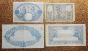 Francia serie Francos Bleu et Rose 1888-1939 reversos