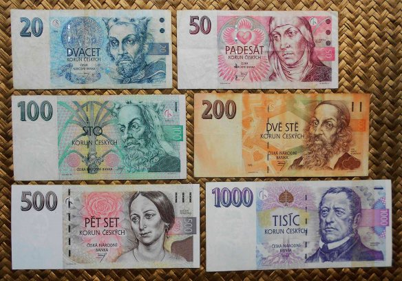 Chequia serie decada '90 s. XX anversos