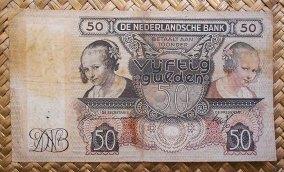 Holanda 50 gulden 1941 (165x94mm) pk.58 anverso