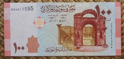 Siria 100 libras 2009 (140x68mm) pk.113 anverso
