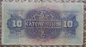 Etiopia 10 thalers 1932 pk.8 reverso