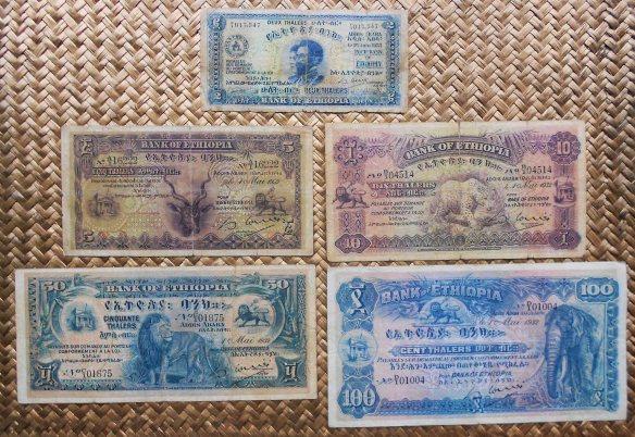 Etiopia 1ª serie Thalers -Bank of Ethiopia 1932-33 anversos