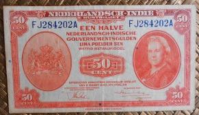 Indias Holandesas 0,5 gulden 1943 (125x70mm) pk.110a anverso