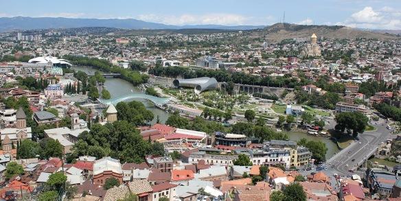 Tbilisi desde el castillo Narikala