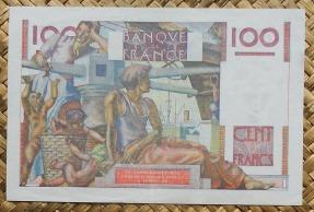Francia 100 francos 4-09-1952 Jeune Paysan pk.128d reverso