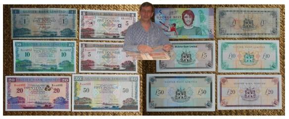 Irlanda del Norte serie libras 1966-2013 Ulster Bank Limited anversos y reversos
