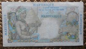 Martinica 50 francos 1947 pk.30 reverso