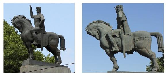 estatua ecuestre de Vakhtang Gorgasali