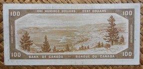 Canada 100 dollars 1954 -Devil's Hair- pk.72a reverso